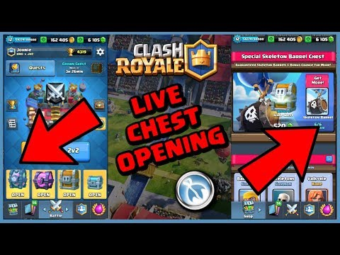LIVE: INSANE CHEST OPENING! - Clash Royale
