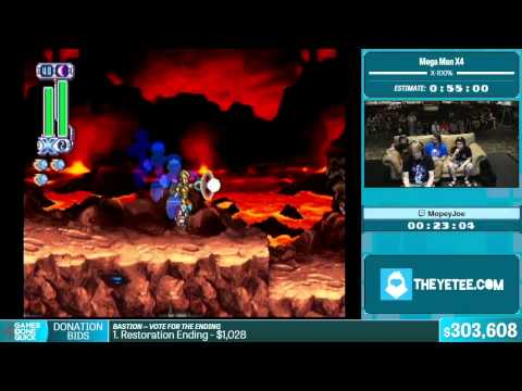 Mega Man X4 by MopeyJoe in 46:06 - Summer Games Done Quick 2015 - Part 55