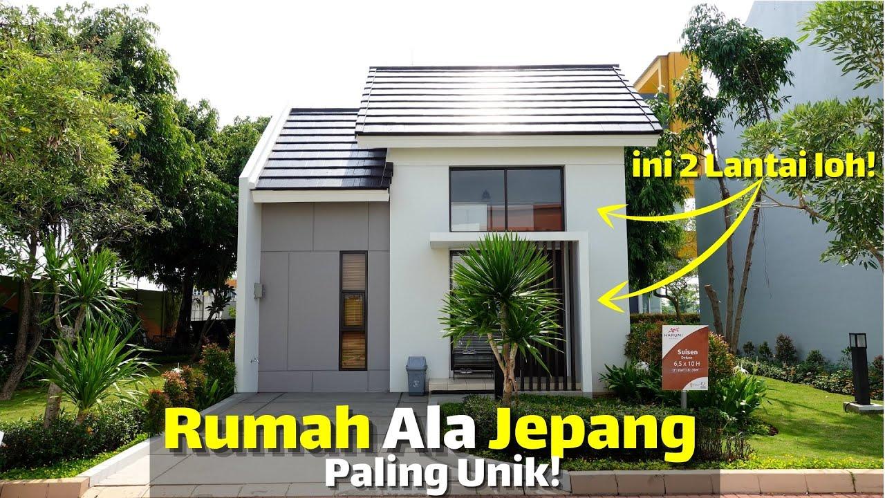 Desain Rumah Ala Jepang Dari Luar 1 Lantai Ternyata Dalemnya 2 Lantai?!  Summarecon Emerald Karawang - YouTube