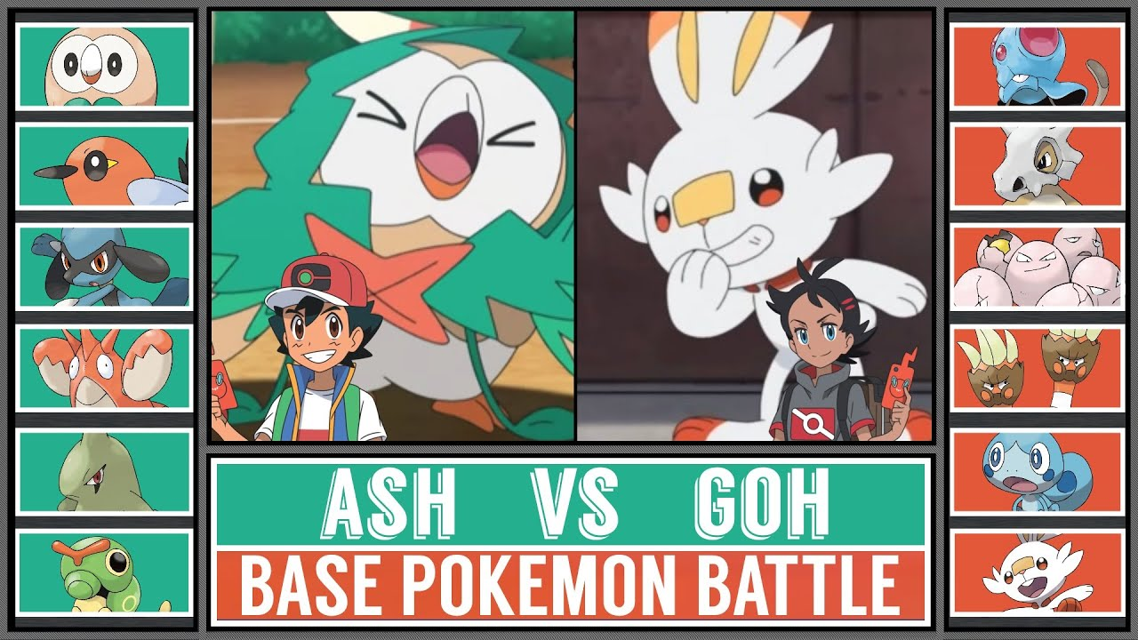 Base Pokémon Battle: ASH vs GOH
