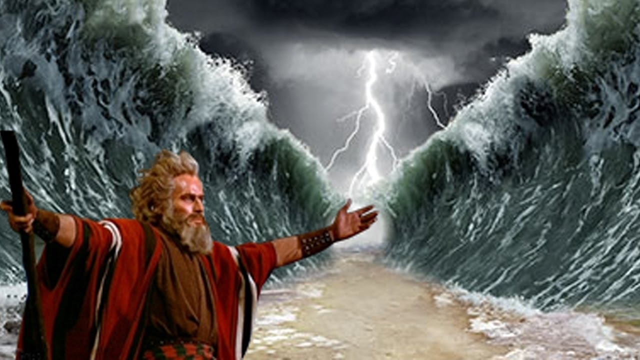Image result for moses parts the red sea