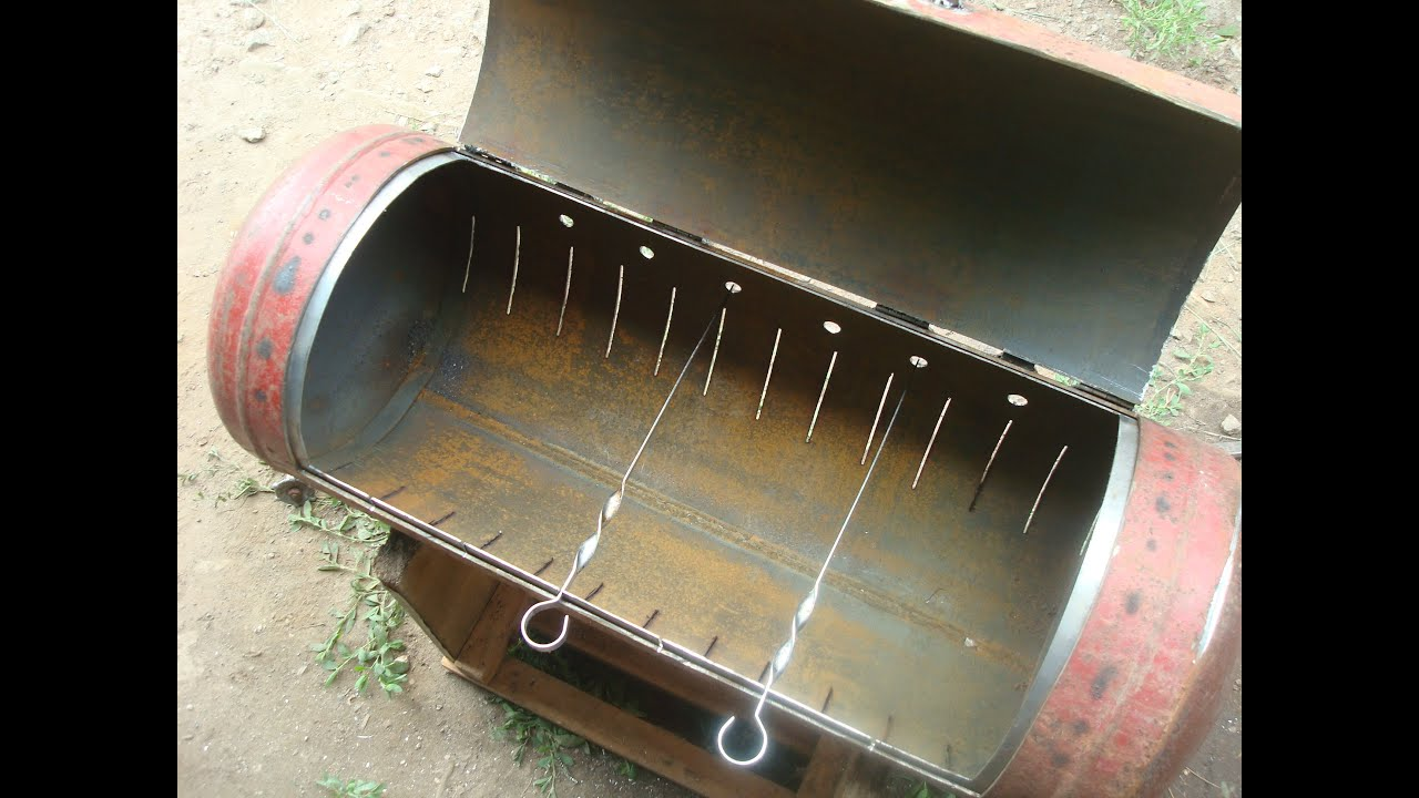 Как сделать мангал из газового баллона мангал и