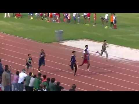 14yr Drew Jackson 100m 11.72s Prelim Heat 2