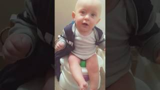 FUNNY BABY POTTY TRAINING  2017 with ~Baby Benjamin~