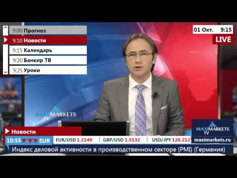 01.10.15 (9:00 MSK) - Новости рынка Форекс. MaxiMarkets форекс ТВ.