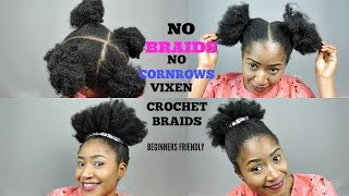 NO BRAIDS, NO CORNROWS VIXEN CROCHET  BRAIDS  || BEGINNER FRIENDLY