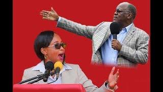 """Ester Matiko mbele ya JPM, """"Nimemshika mkono tena mweupe"""" Rais Magufuli"""