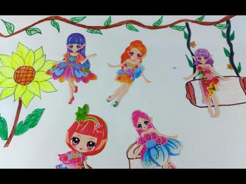 Vẽ khu vườn hoa hướng dương cho các nàng công chúa T.iê.n Bư.ớ.m/Thay trang phục siêu xinh