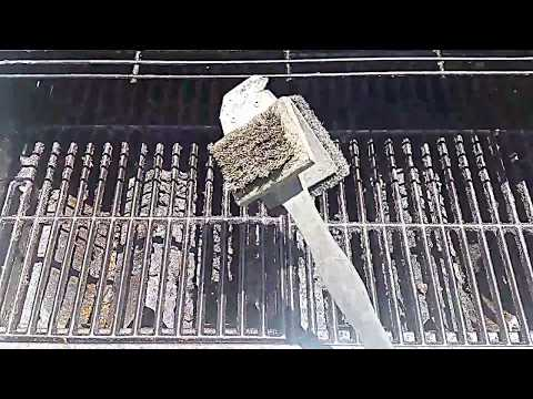 Cleaning Grill Grates With Steel Wire Brush