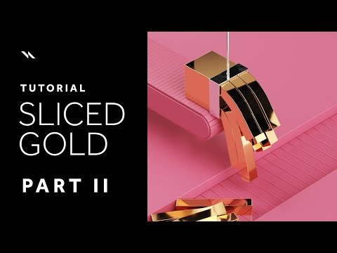 Sliced Gold | Cinema 4D tutorial - Part II