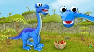 Diplodocus dinosaurs picking berries