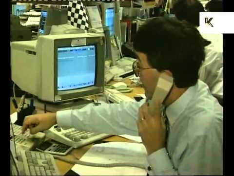 1990s NatWest Stockbrokers, Traders at Work, London City Boys, Bankers