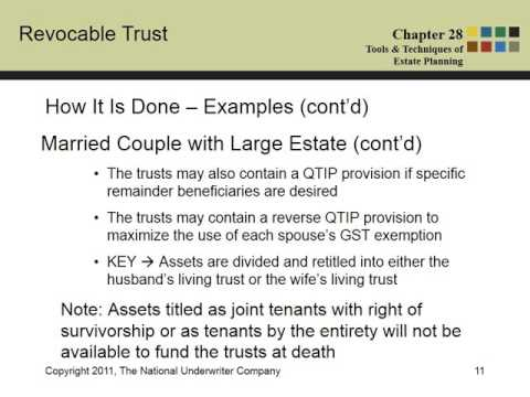 Revocable Trust Estate Planning Overview by wayne lippman CPA