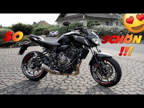 DAS BRAUCHT JEDER AM MOTORRAD | Yamaha Mt 07 2018 | Felgenbettsticker montieren