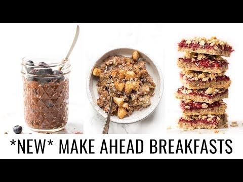 3 *NEW* Make Ahead Breakfast Recipes | VEGAN & GF
