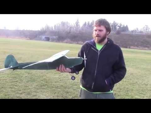 First flight ( and crash ) of our Flite Test Simple Storch