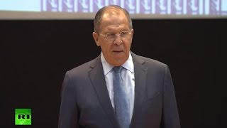 Сергей Лавров выступает перед студентами МГИМО