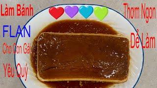 Làm Bánh Flan l Cho Con Gái Yêu Quý l Bầu Trời Colorado USA.