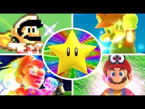 Evolution of Super Stars in Mario Games (1985-2017)