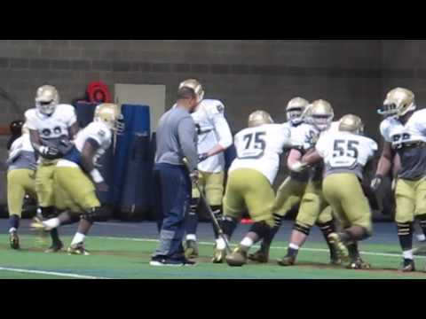 Notre Dame spring football practice March 25, 2015
