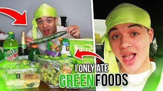 I Only Ate GREEN FOODS For 24 HOURS! (never again)