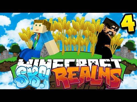 Minecraft: SKYREALMS CHALLENGE | FARMING BATTLES!! [4]