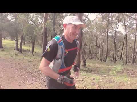 On the UTA100 course with Ultra-Trail Australia legend Kevin Heaton.
