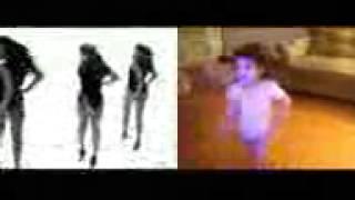 маленькая девочка танцует как Beyonce))