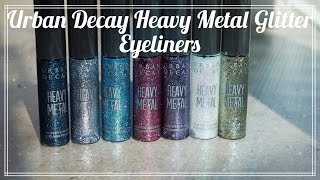REVIEW: Urban Decay Heavy Metal Glitter Eyeliners