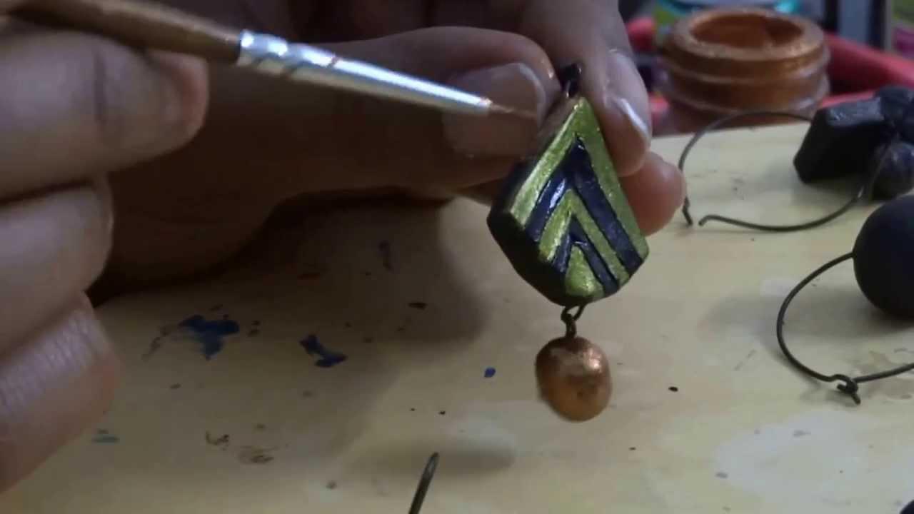 Terracotta Jewellery Painting