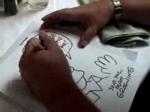 Ricky Gervais asks Matt Groening (The Simpsons) to draw a picture for Karl Pilkington
