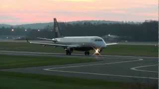 Bradley International Airport Sunset/Night Time Spotting (11/11/12) w/ATC