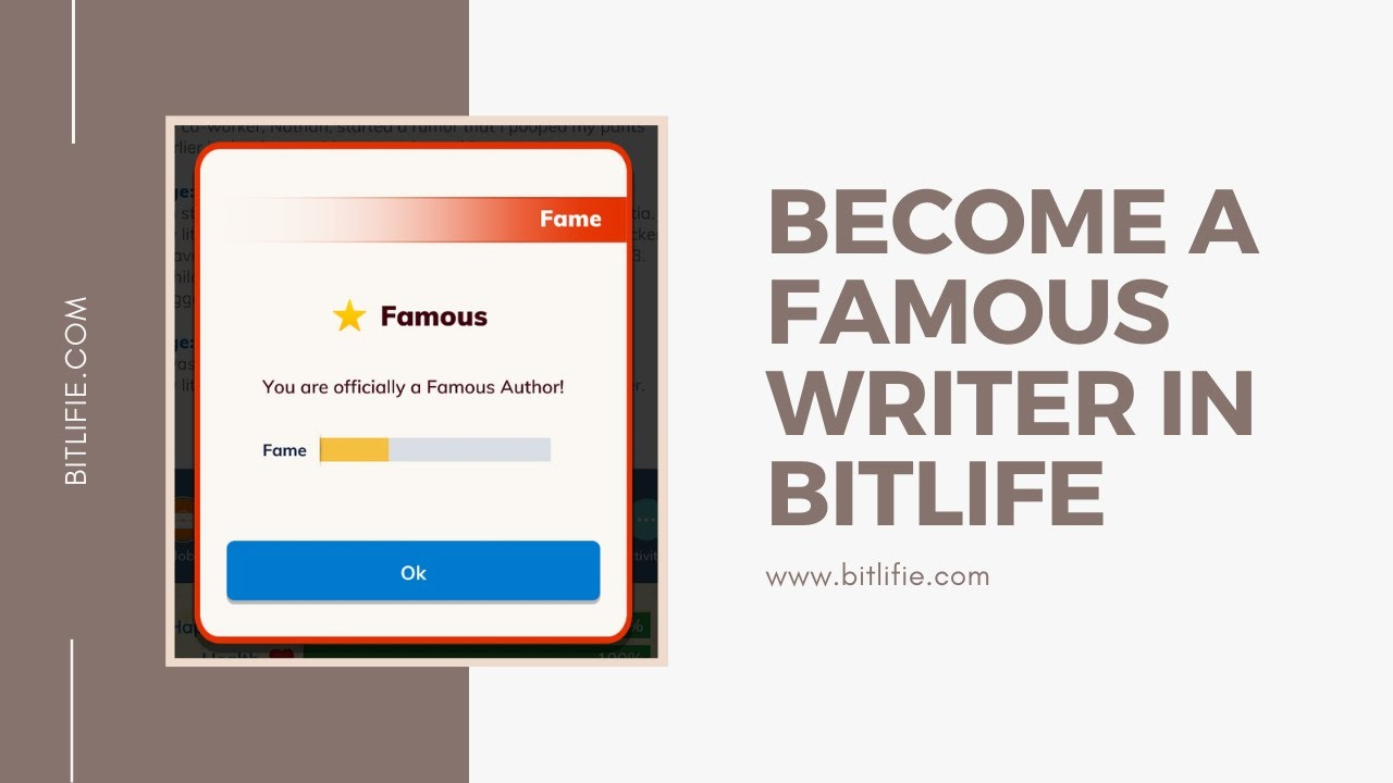 Become a Famous Writer and Author in BitLife + Video Guide – BitLifie