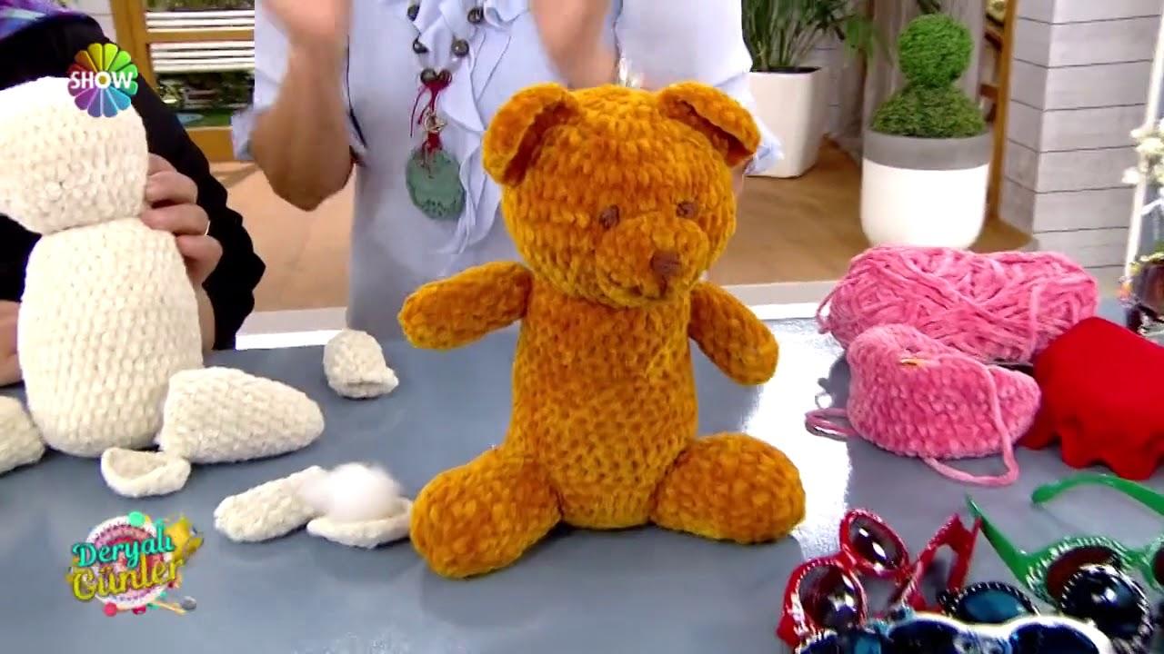 Kadife İp İle Ayıcık Yapımı #2 - Amigurumi Bear - YouTube | 720x1280