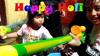 Colorful Funny Happy Holi 2019   Nepal   Like Basantapur at Kids Playtime   