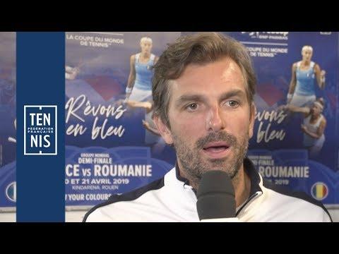 Fed Cup France / Roumanie : Julien Benneteau détaille la préparation | FFT