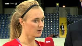 Fußball Frauen EM Quali Österreich - Wales  Interviews - Verabschiedung
