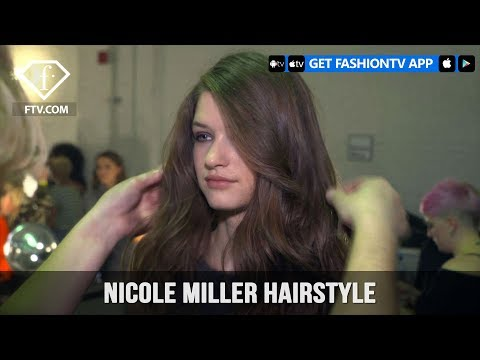 New York Fashion Week Fall/Winter 18 19 - Nicole Miller Hairstyle | FashionTV | FTV