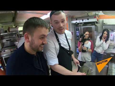 На кухне знаменитого ресторана в Ростове-на-Дону