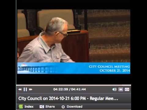Oct 21 2014, Manhattan Beach City Council Meeting CCA Resolution