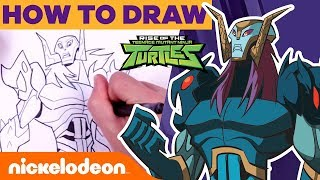 How To Draw the Rise of the TMNT Villains ft. Baron Draxum, Meat Sweats, & Foot Clan! 🎨 | Nick