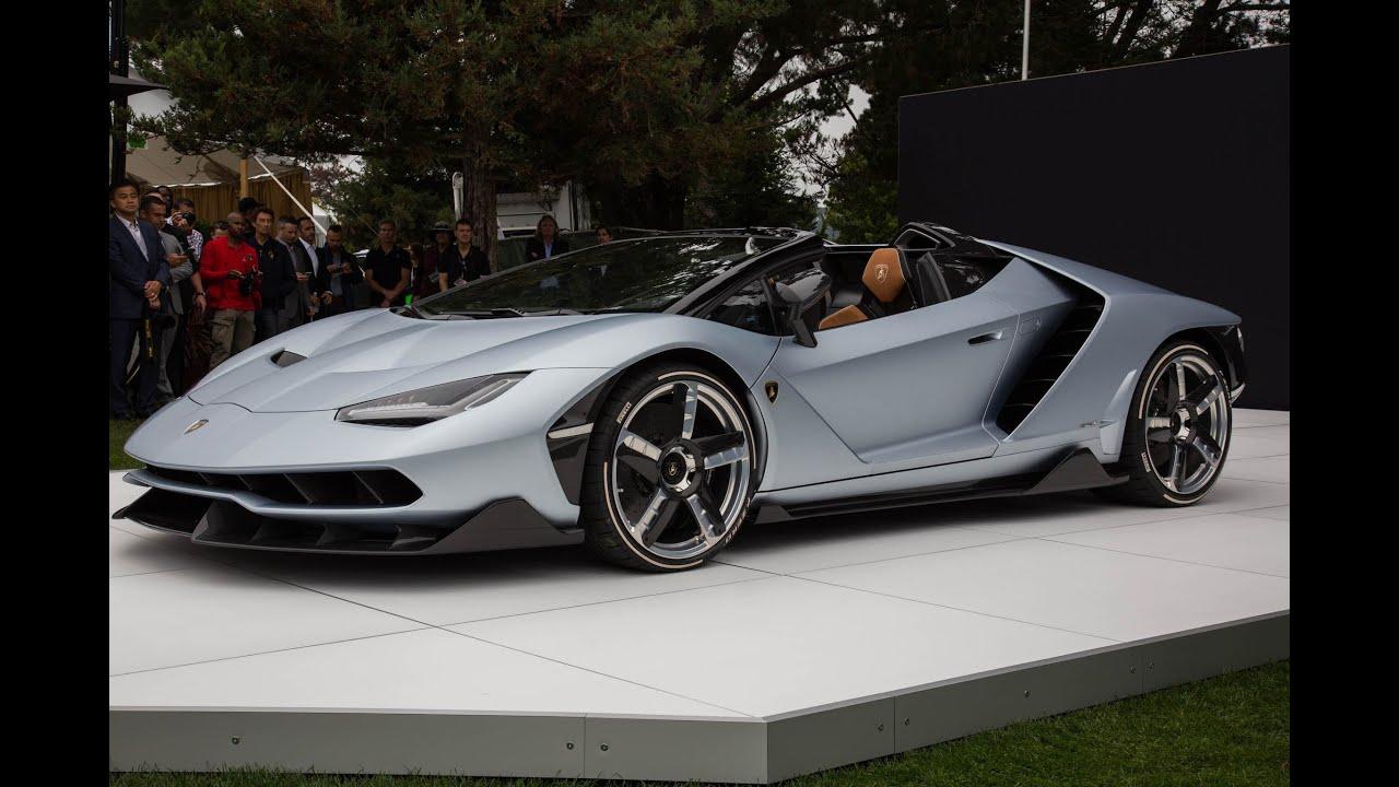 Lamborghini Centenario Roadster First Look 2016 Monterey Car Week