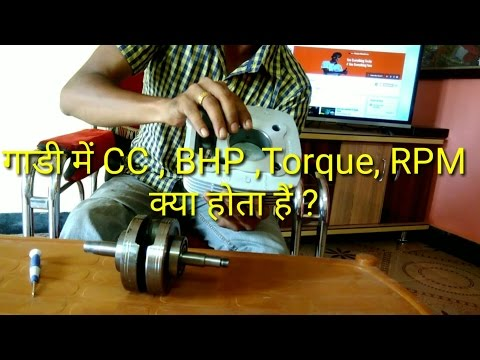 What is CC,RPM,Torque & BHP easy explanation hindi
