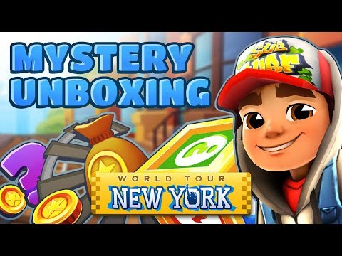💰 Opening Mystery Boxes in New York - Subway Surfers Mystery Unboxing