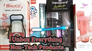 Unbox Everything   USB LED Light   Sippers   Bottle Purifiers   Emergency Light   Tech Render