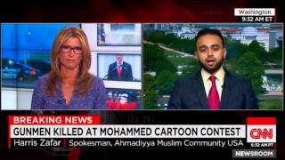 CNN News Room: Ahmadiyya rep Harris Zafar responds to Garland Shooting