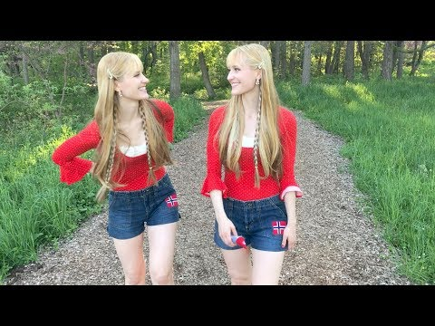 NORWEGIAN WOOD - The Beatles (Harp Twins) Camille and Kennerly