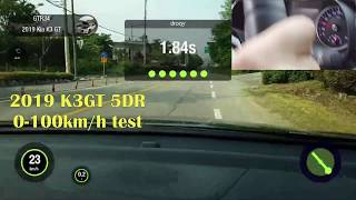 K3GT 5DR 0-100km/h 가속