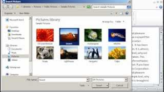 Word 2010: Insert pictures or clip art