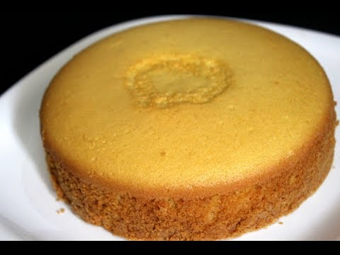 Sponge Cake Without Oven - Basic Plain Vanilla Sponge Cake - Sponge Cake Recipe In Pressure Cooker